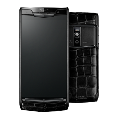 New! Vertu Signature Touch PURE Jet Alligator