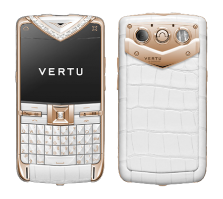 Vertu Constellation Quest Red Gold Alligator Skin