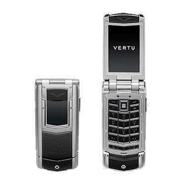 Vertu Constellation Ayxta Mats. steel, black. leather, black. button