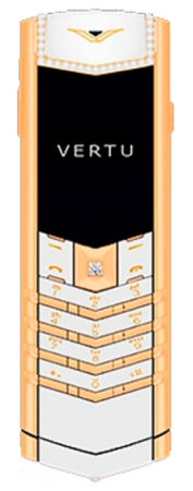 Signature S Design VERTU SIGNATURE S DESIGN PURE WHITE RED GOLD DIAMONDS
