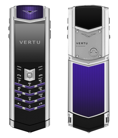 Signature S Design Vertu Signature S Design Royal Blue Enamel