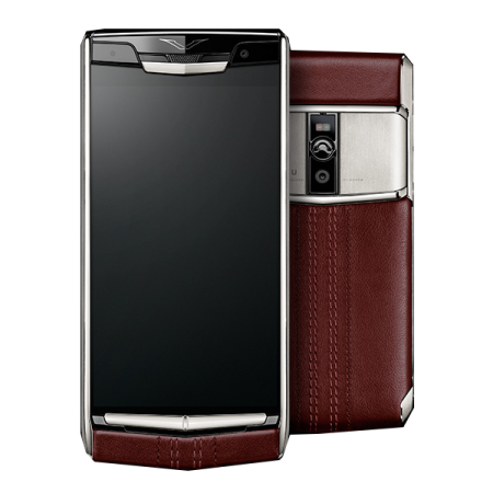 New! Vertu Signature Touch Garnet Calf
