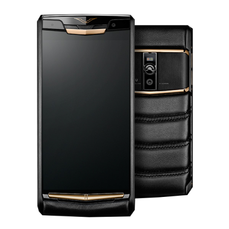 New! Vertu Signature Touch Pure Jet RedGold