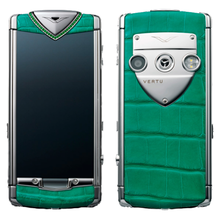 Vertu Constellation T Candy Mint Green Stainless steel, green leather