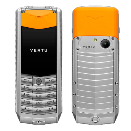 Vertu Ascent 2010 Aluminum, orange leather