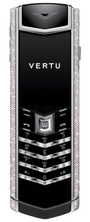 Signature S Design VERTU SIGNATURE S DESIGN STAINLESS STEEL DIAMONDS BLACK