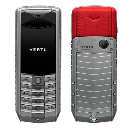 Vertu Ascent 2010 Titanium, red leather