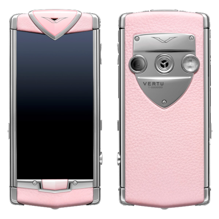 Vertu Constellation T Stainless steel, pink leather