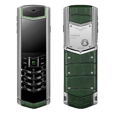 Vertu Signature S Design Green Alligator Emeralds (MTO)