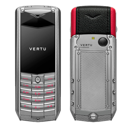 Vertu Ascent 2010 Corrugated titanium, red leather