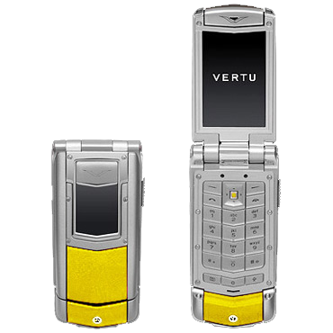 Vertu Ayxta Polished steel, yellow skin