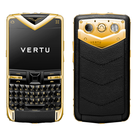 Vertu Constellation Quest Yellow gold, black leather