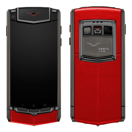 Touch Ti Vertu Ti Matte titanium, red leather