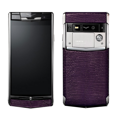 Signature touch Vertu Signature Touch Damson Lizard