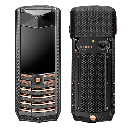 Vertu Ascent 2010 Black Knurl Red Gold Mixed Metals