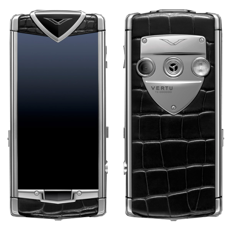 Vertu Constellation T Stainless. steel, black alligator leather