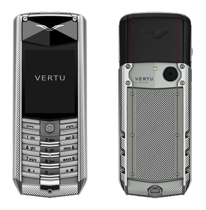 Vertu Ascent 2010 corrugated titanium, black leather