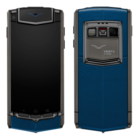 Touch Ti Vertu Ti Matt titanium, blue leather