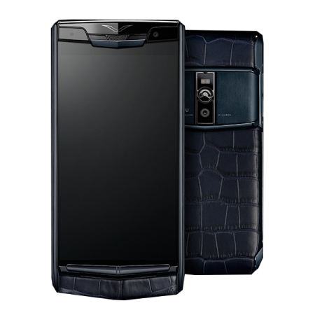 New! Vertu Signature Touch Pure Navy Alligator