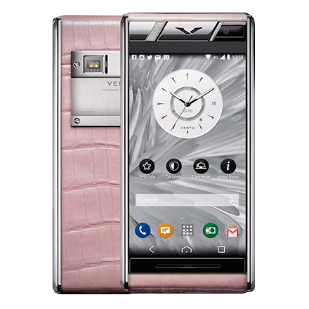Aster Vertu Aster Diamonds Pink Alligator