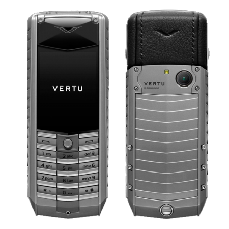 Vertu Ascent 2010 Titanium, black leather