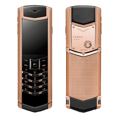 Vertu Signature S Design Clous De Paris Red gold