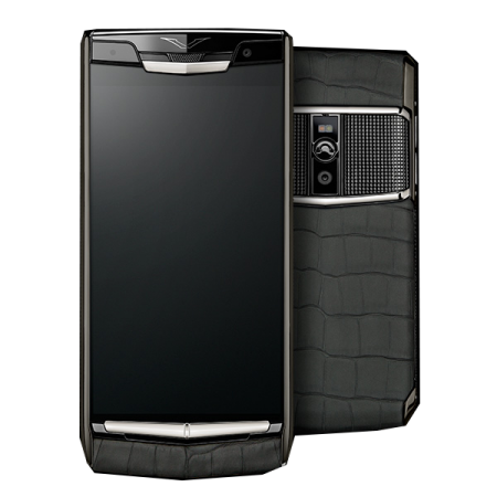 New! Vertu Signature Touch Clous de Paris Alligator