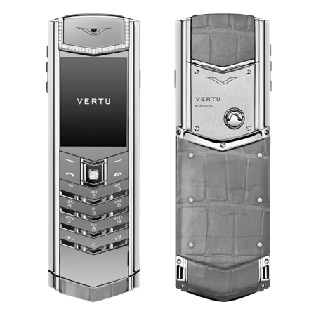 Vertu Signature S Design Grey Alligator Diamonds (MTO)